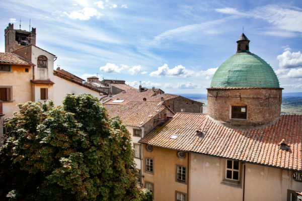 Panorama su Cortona dal MAEC