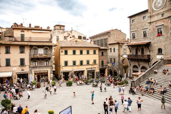 Piazza della Repubblica di Cortona - la piazza Principale della città