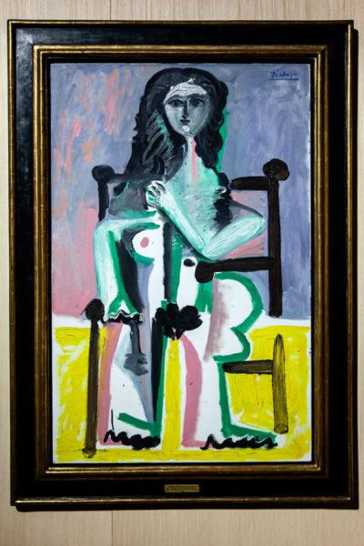 Picasso - Donna Seduta in Una Poltrona - Mostra a Palazzo Reale di Milano