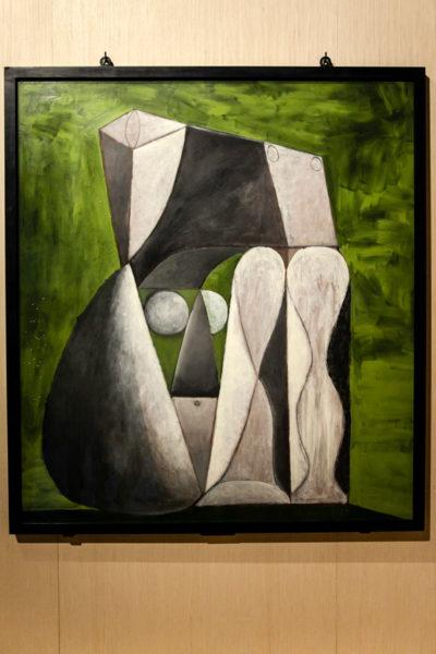 Picasso - Nudo seduto su fondo verde - 1946
