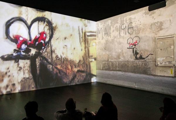 Proiezione delle opere di Banksy con contestualizzazione sul luogo di creazione