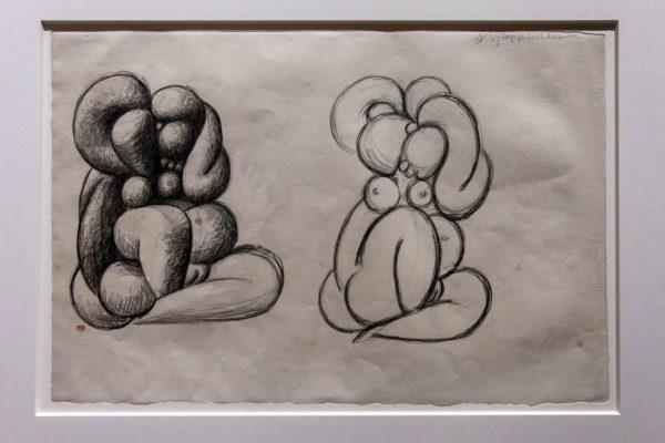 Prove di disegno di Pablo Picasso - Donna con mani alzate