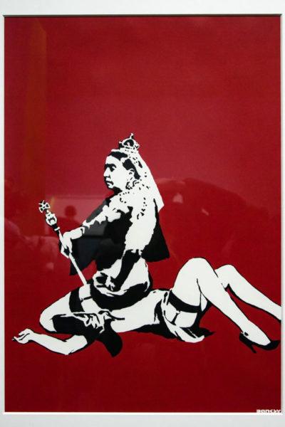 Queen Vic - Serigrafia di Banksy del 2003 contro le leggi omofobe inglesi