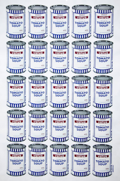 Riflessione sul consumismo - Soup Cans - Scatole di latta di Tesco