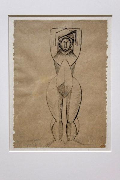 Schizzo Donna con Braccia Alzate - Picasso a Milano