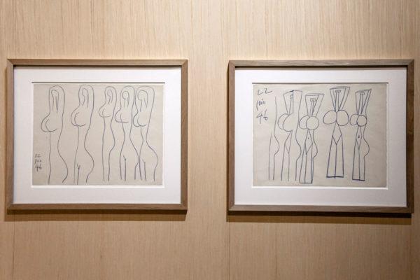 Studio di figura femminile stilizzata - Les Demoiselles dei Dyplon