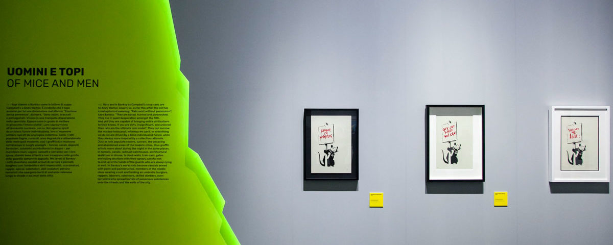Uomini e Topi - A Visual Protest - Banksy al MUDEC di Milano