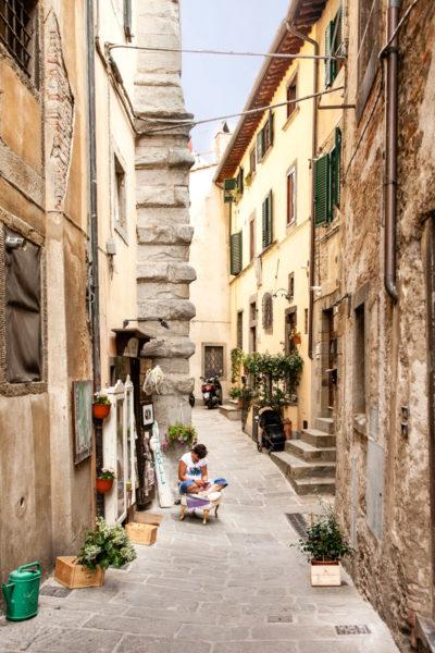 Vicoli del borgo di Cortona