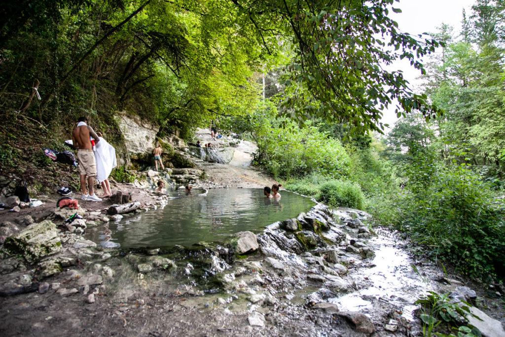 Bagni di San Filippo - Pozze di acqua termale libere