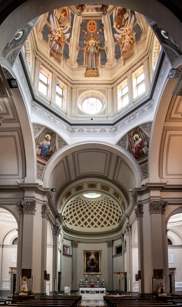 Cupola e interni del Santuario di Santa Rosa di Viterbo