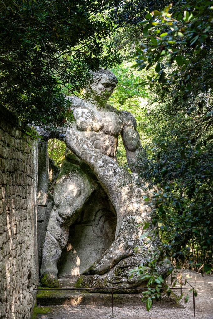 Ercole e Caco - Combattimento tra Statue nel Sacro Bosco