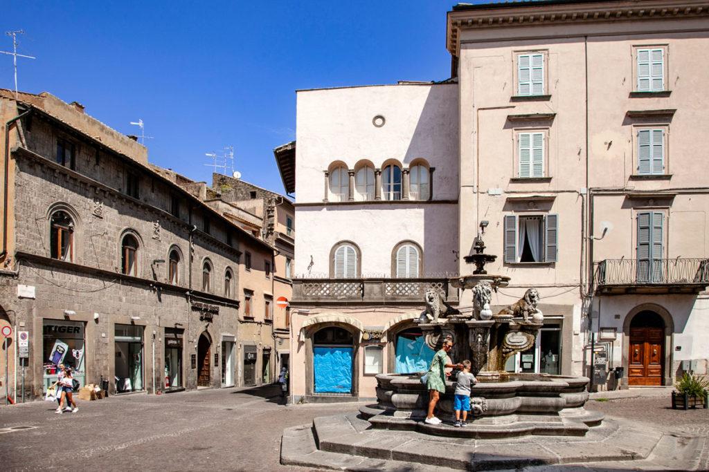 Fontana delle Erbe in Piazza delle Erbe a Viterbo