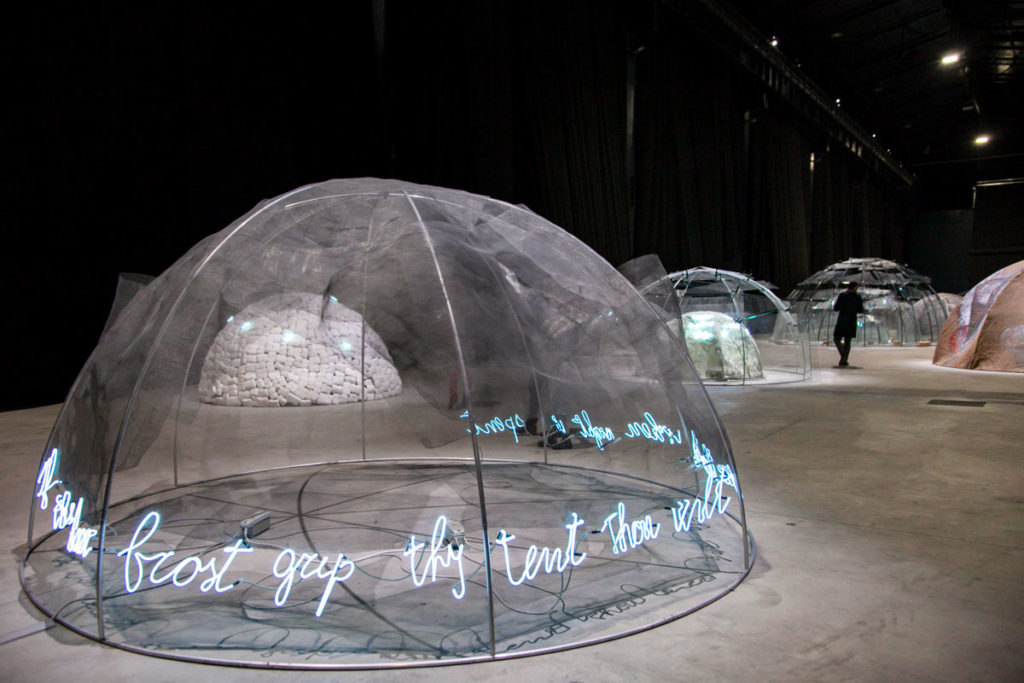 If the hoar frost grip thy tent thou wilt give thanks wehn night is spent - 1978 - Mostra Igloos all Hangar Bicocca