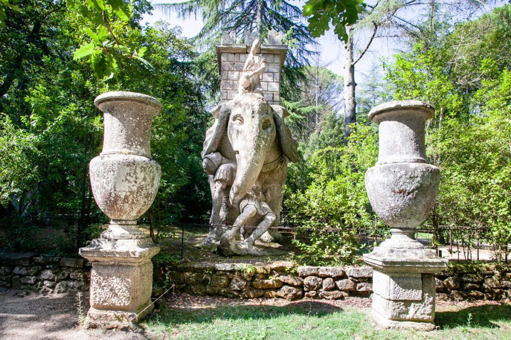 Statua Elefante nel Sacro Bosco di Bomarzo