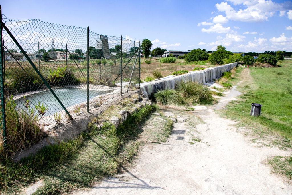 Terme libere di Viterbo - Corso di acqua termale per le piscine Carletti
