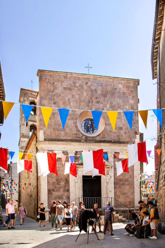 Facciata Esterna chiesa di San Rocco - Pitigliano