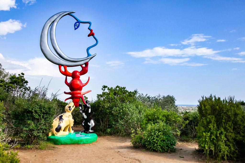 Giardino dei Tarocchi - Statua della Luna