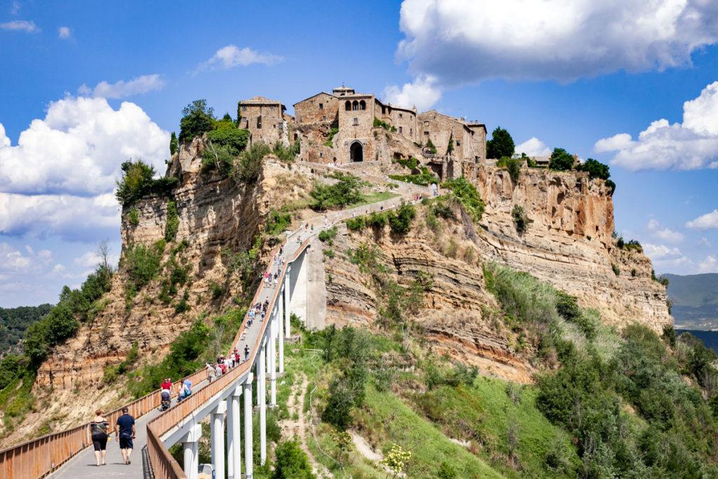 Il ponte di Civita di Bagnoregio - Unico modo per raggiungere il borgo della valle dei calanchi