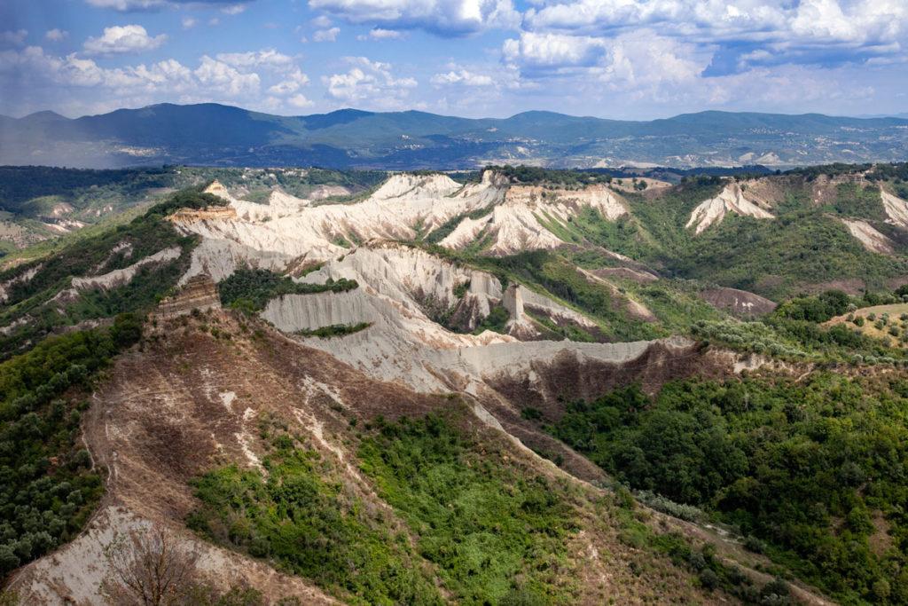 Panorama sulla valle dei Calanchi - Viterbo