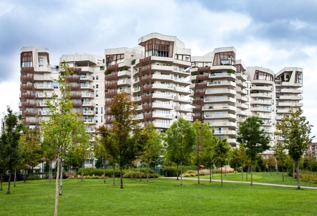 Residenze Libeskind a CityLife di Milano - Palazzi in cemento e legno