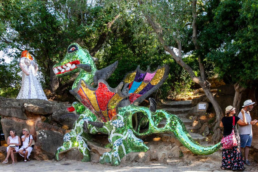 Tarocco della Forza con Donna che sorveglia un drago ubbidiente