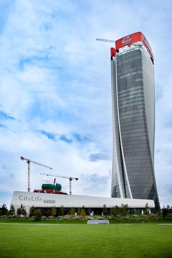 Torre Generali - La Torre Hadid e Ingresso al centro commerciale di Milano