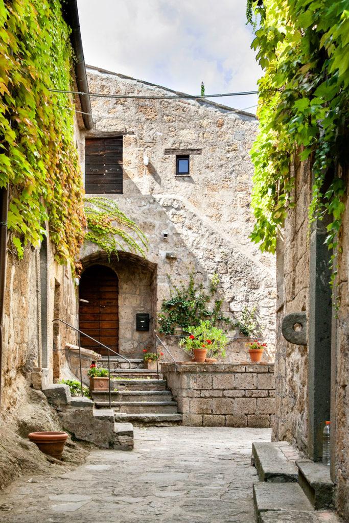 Vicoli del borgo di Civita di Bagnoregio