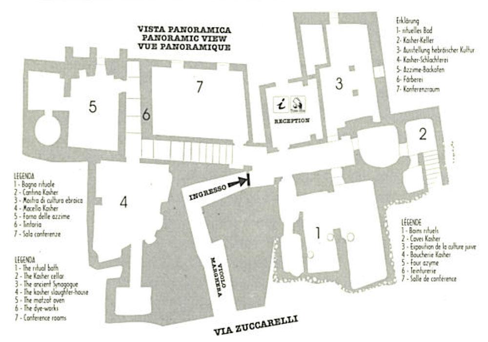 mappa quartiere ebraico Pitigliano