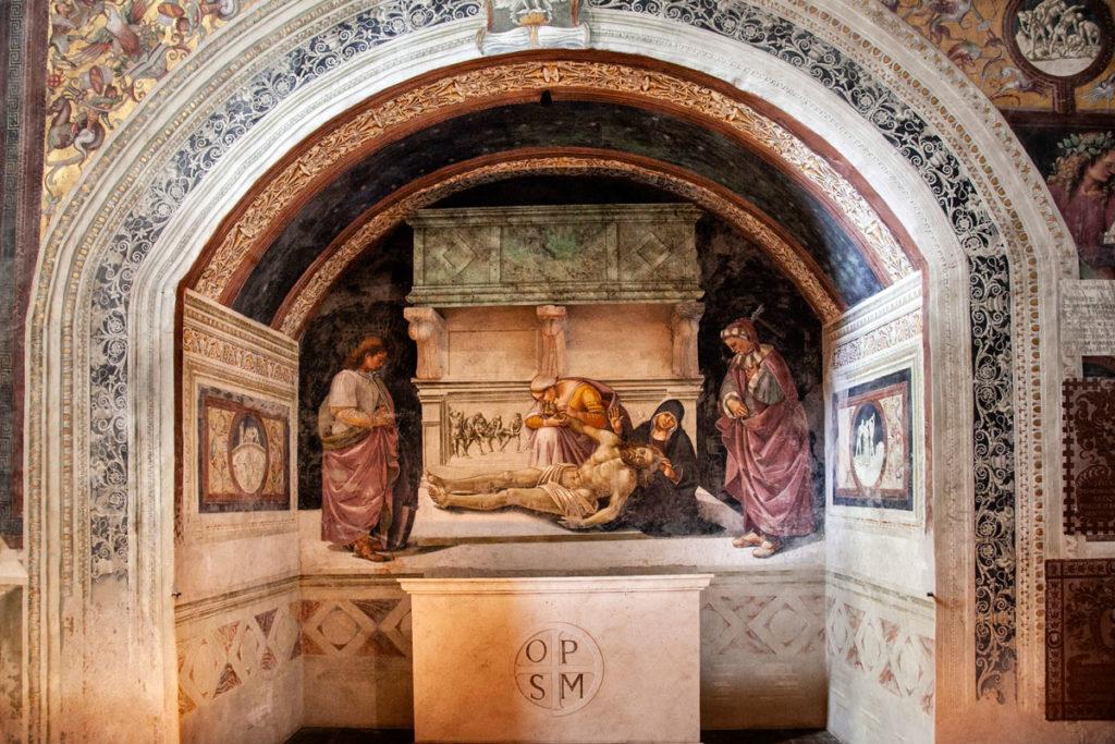 Altare della Cappella di San Brizio con Dipinti