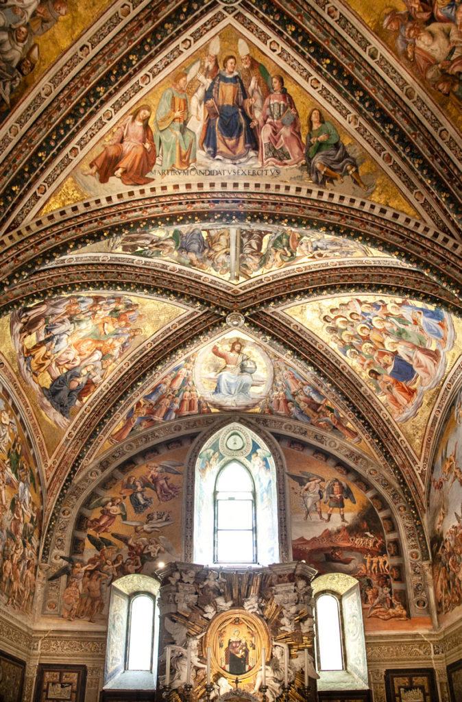 Cappella di San Brizio - Affreschi con scene della Chiesa