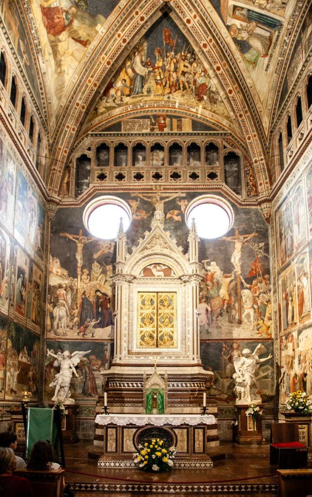 Cappella del Corporale - reliquie dentro al duomo di Orvieto