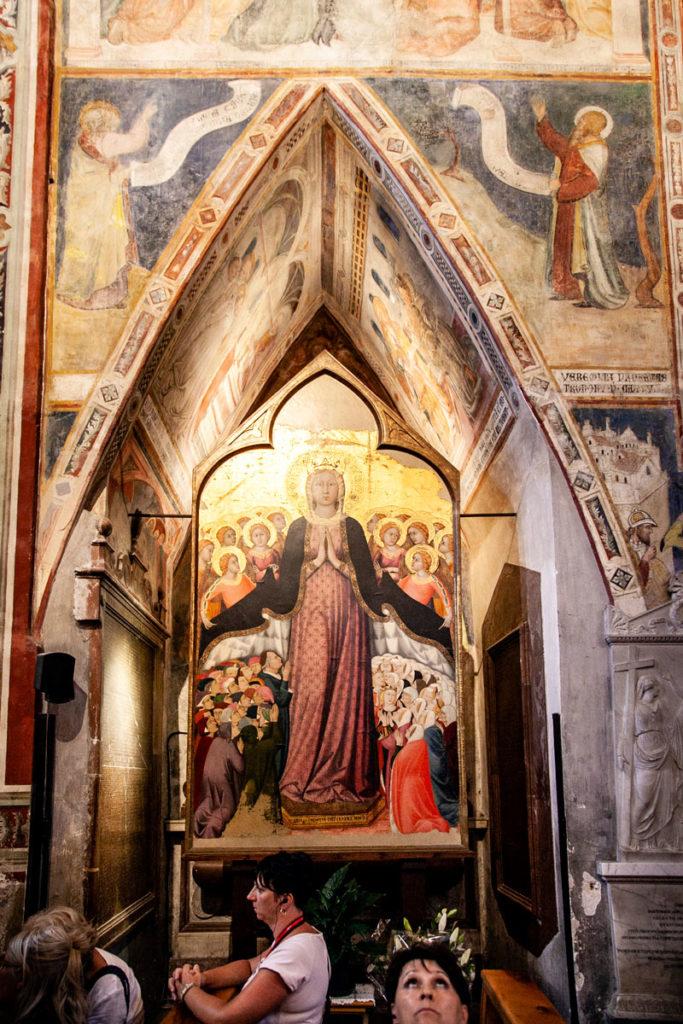 Cappella del Corporale - Resti del lino insaguinato della Messa di Bolsena