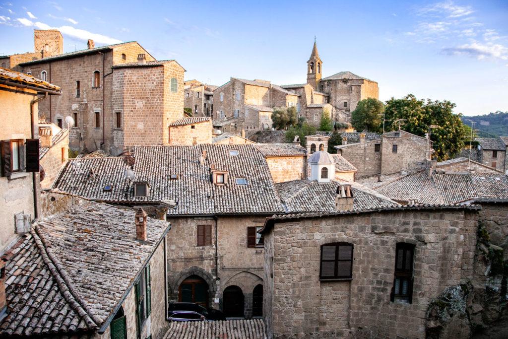Panorama sul quartiere medievale di Orvieto