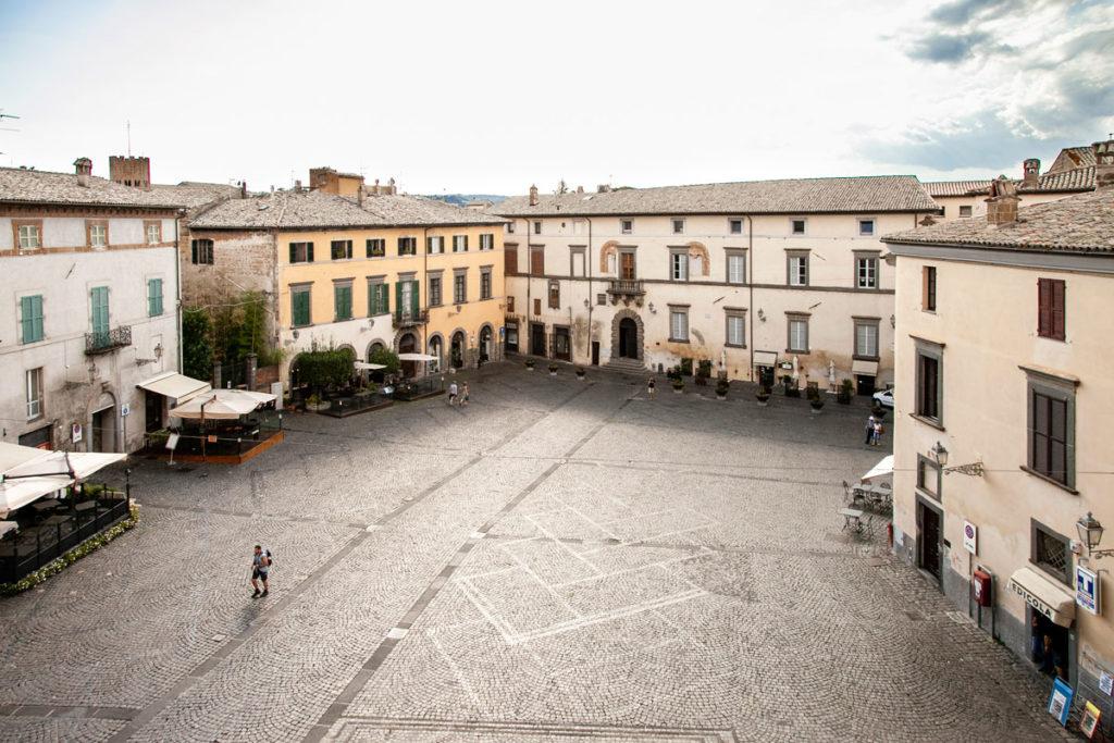 Vista sulla piazza del Popolo di Orvieto