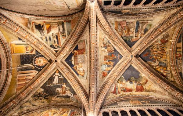 Volte della Cappella del Corporale dentro al duomo di Orvieto