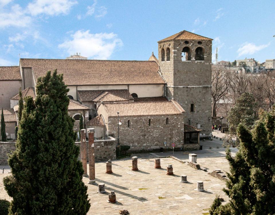 Basilica Forense Romana nel foro della Città e Duomo di Trieste