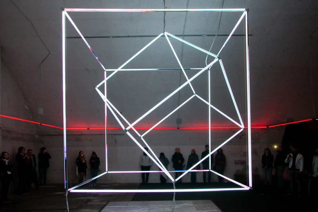 Come to Light - Cubo luminoso di Unstatic Technologies a Ventura Centrale