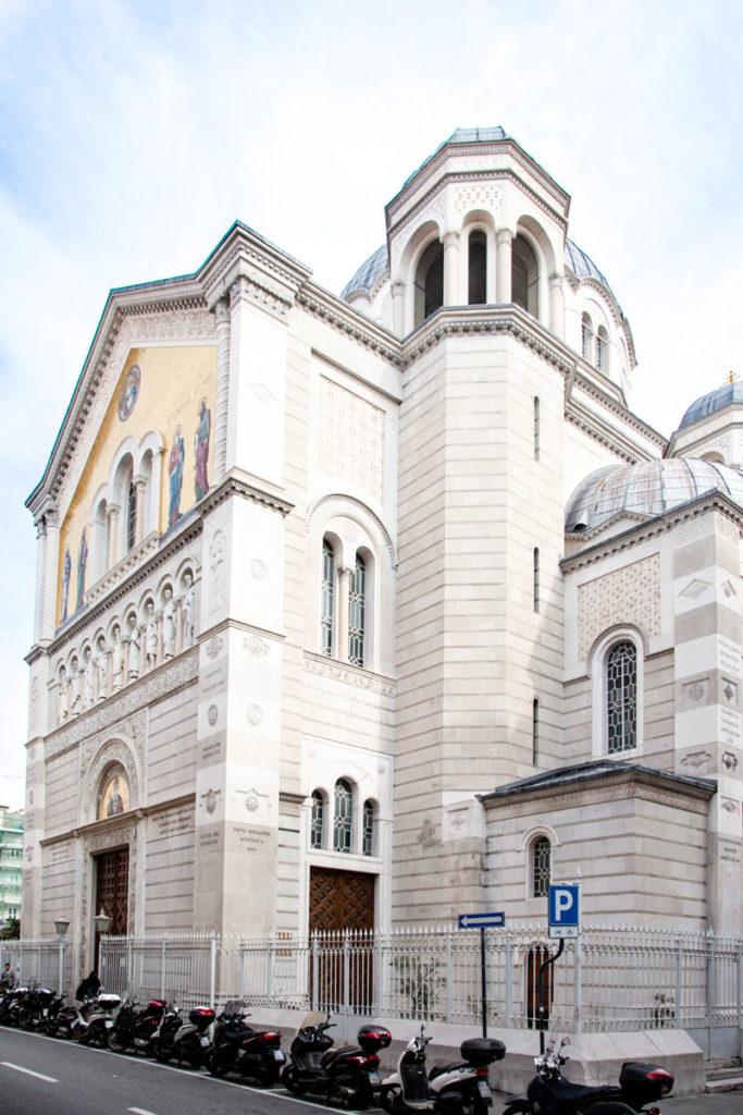 Cupole e campanile Chiesa Serbo Ortodossa di San Spiridione - Trieste