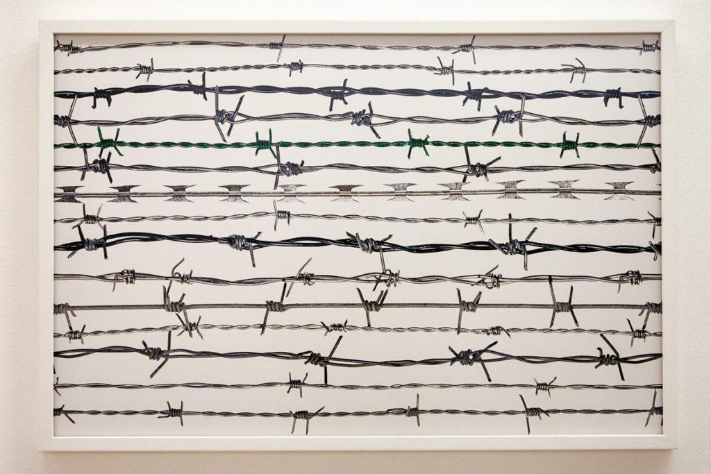 Fotografia contro le limitazioni della libertà - quindici tipi di filo spinato provenienti da tutto il mondo - Oliviero Toscani