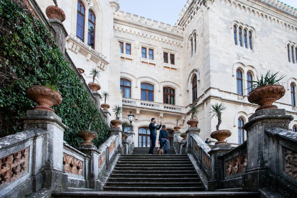 Ingresso al castello di Miramare di Trieste
