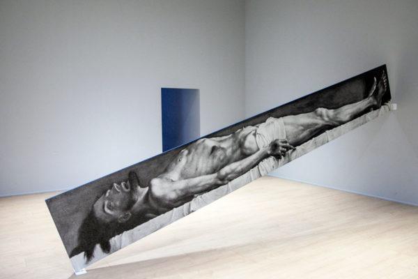 Blue Line di John Baldessari - Cristo Morto nella Tomba