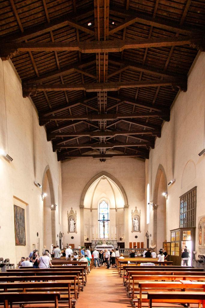Interni a navata unica della chiesa di San Paolo