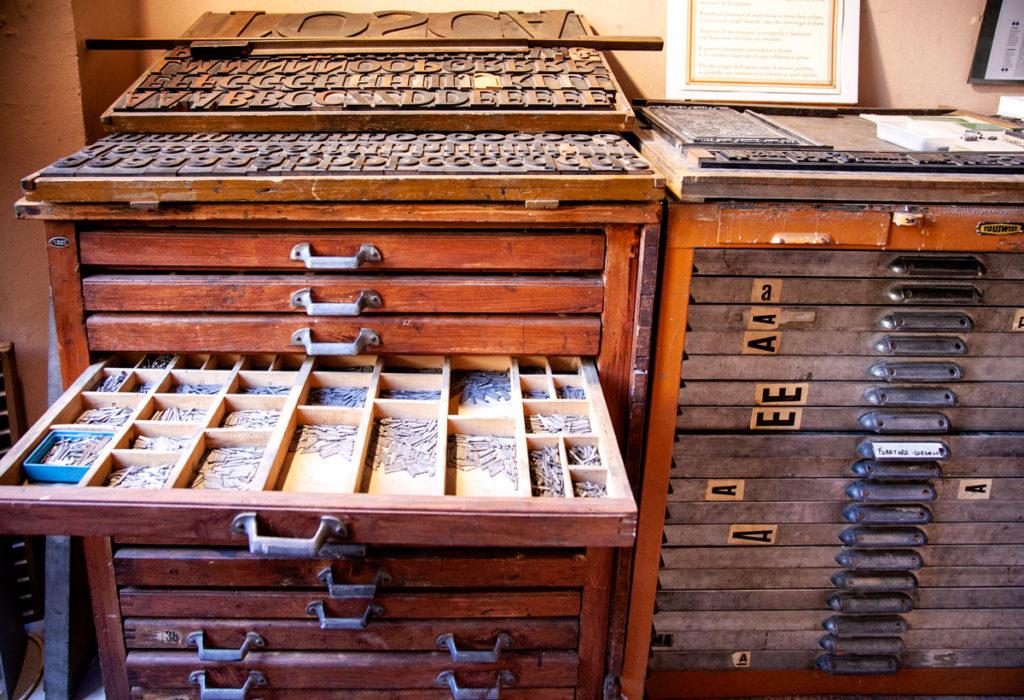 Museo della stampa - caratteri mobili