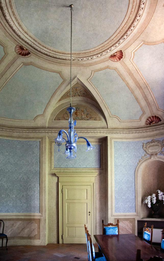 Sala Blu del palazzo Cinquecentesco