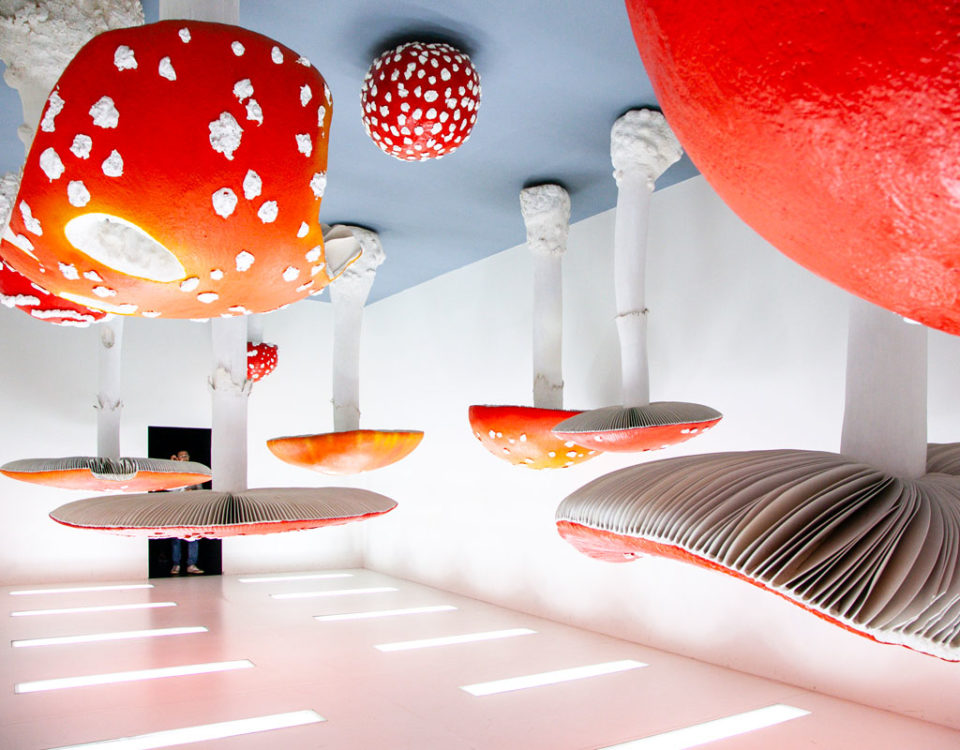 Upside Down Mushroom Room di Carsten Holler - Atlas a Fondazione Prada