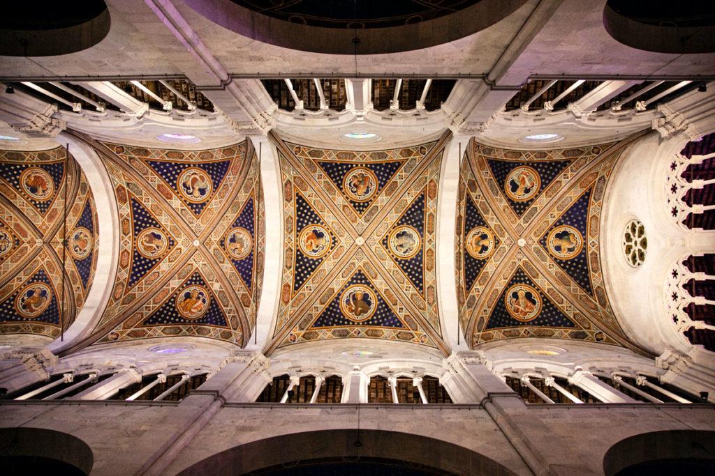 Affreschi sulla copertura della Cattedrale di San Martino