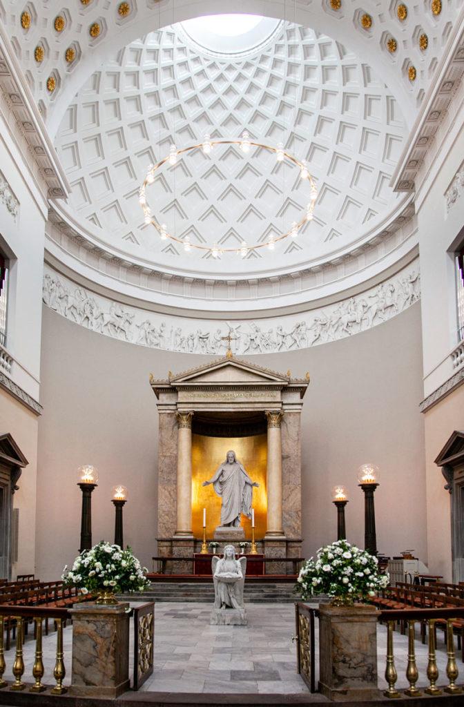 Altare e Cupola Vor Frue Kirke – la Cattedrale di Nostra Signora