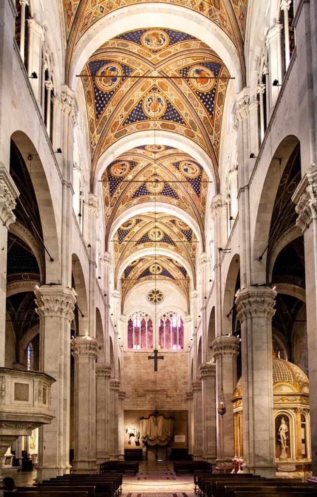 Altezza della Cattedrale di San Martino - Soffitti Affrescati