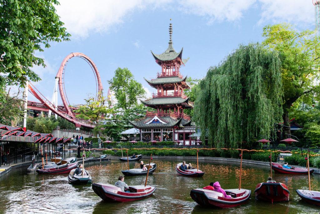 Area Cinese nel Luna Park di Tivoli