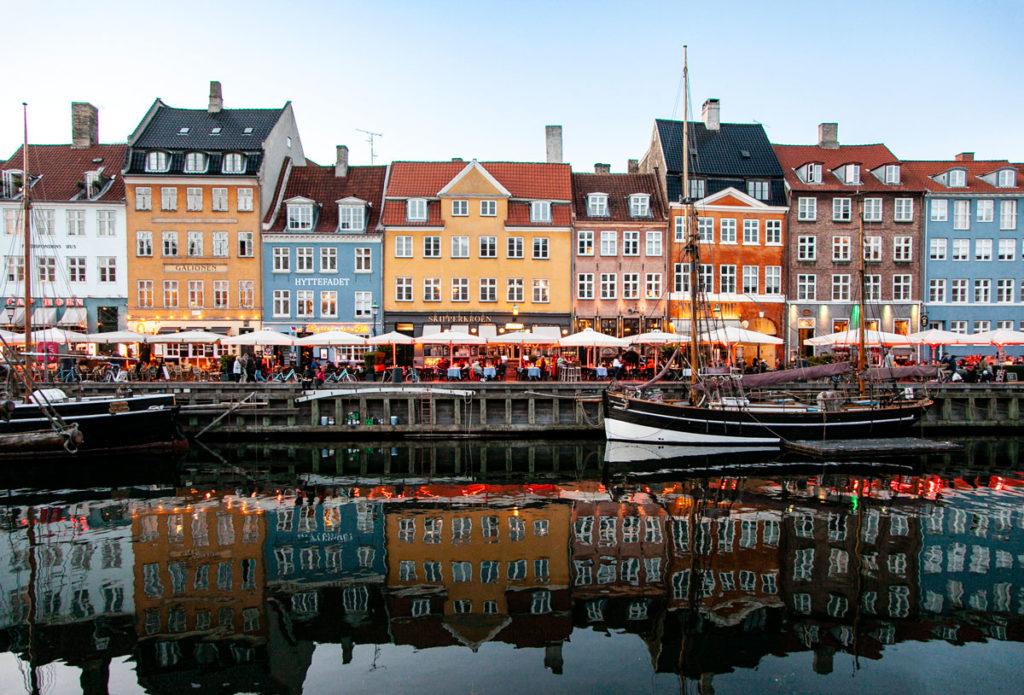 Barche e palazzi - Canale Nyhavn Copenaghen